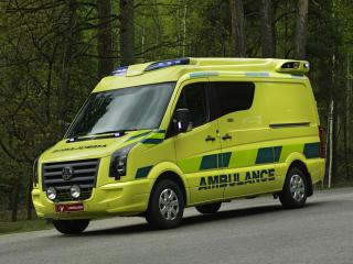 обои Tamlans Volkswagen Crafter Ambulance перед фото
