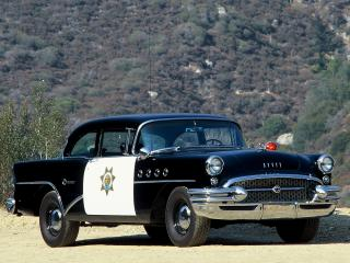 обои Buick Century 2-door Sedan Highway Patrol 1955 сбоку фото