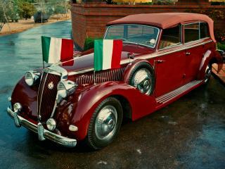 обои для рабочего стола: Lancia Astura Ministeriale Convertible Stabilimenti Farina 1939 бок