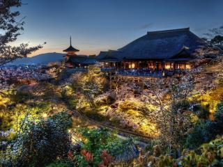 обои Китайский домик под лунным сиянием фото