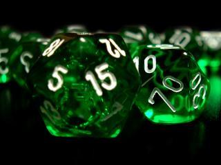 обои Зеленые игральные кости фото