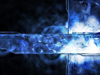 обои Синее свечение фото