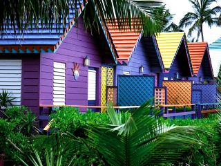 обои Красочные домики в тропиках фото