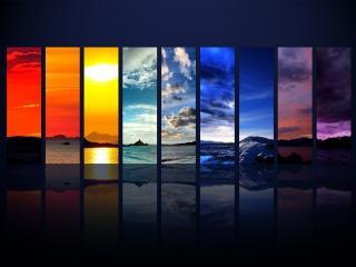 обои Погода и природа во всех цветах радуги фото