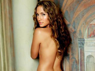 обои Jennifer Lopez стоит спиной фото