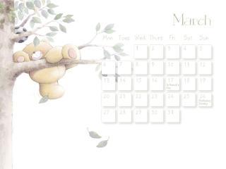 обои Календарь - 2013 Март - Карабкаясь  на дерево фото