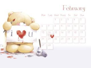 обои Календарь - 2013 Февраль - С любовью фото