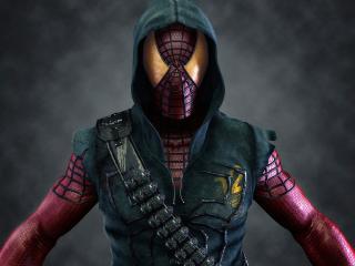 обои для рабочего стола: Человек-паук в капюшоне