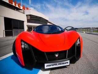 обои Marussia B2 2009 передок капот фото