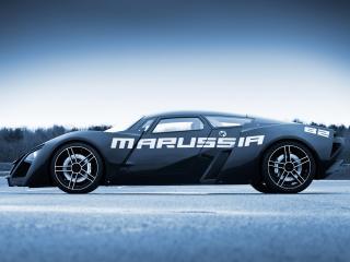 обои Marussia B2 2009 черная фото