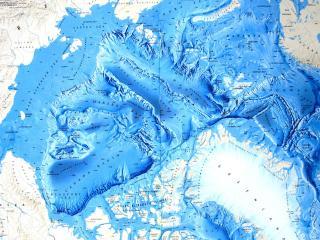 обои Арктика,   карта,   океан,   рельеф фото