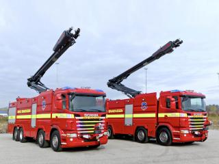 обои Rosenbauer Scania R480 ILF 8200-5000 HRET 2009 красавцы фото