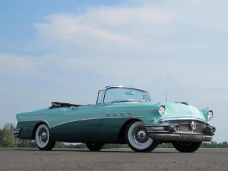 обои Buick Roadmaster Convertible 1956 бок фото