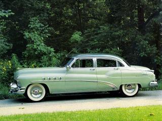 обои Buick Roadmaster Riviera 1952 бок фото