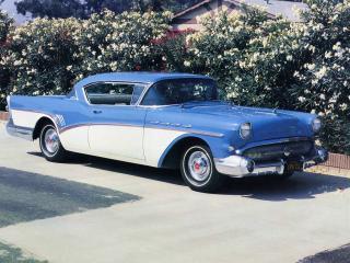 обои Buick Roadmaster Riviera Hardtop Coupe (76A) 1957 сбоку фото