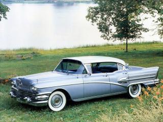 обои Buick Roadmaster Riviera Hardtop Sedan 1958 бок фото