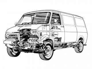 обои Bedford CF 1969 схема фото