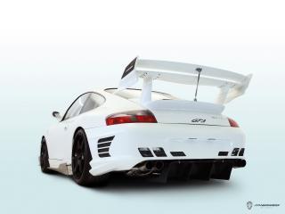обои JNH Porsche 911 GT3 (996) 2006 спойлер фото