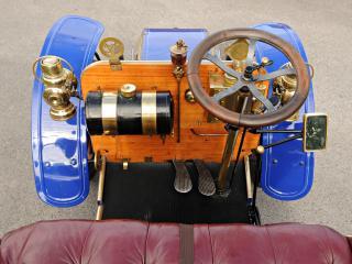 обои Deckert 8 HP 2-seater 1902 руль фото