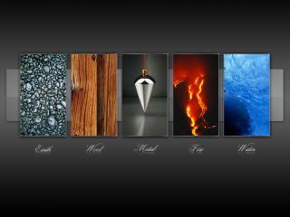 обои Пять элементов природы фото