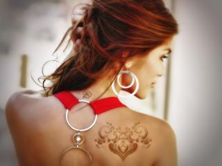 обои Гламурная татуировка на плече фото