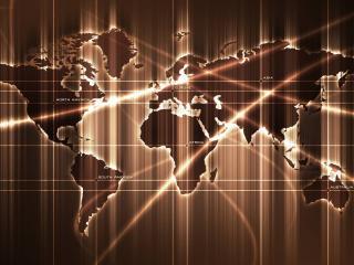обои Карта мира части света фото