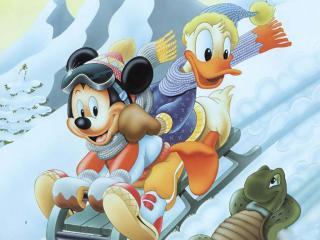 обои Микки Маус и Дак фото