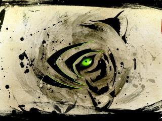 обои Claw nvidia глаз тигра фото