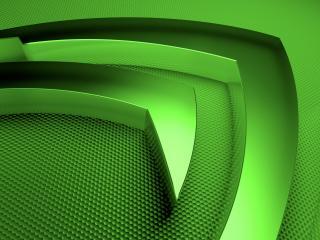 обои Nvidia claw зелёный фото