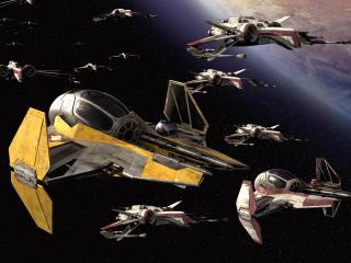 обои Атака в Star Wars фото