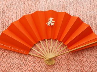 обои Оранжевый веер,   иероглиф фото