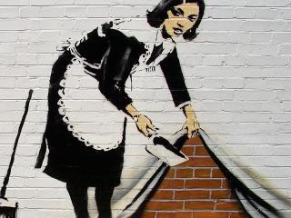 обои Прислуга на граффити фото