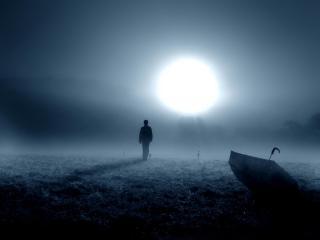 обои Зловещее одиночество в поле фото