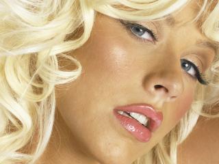 обои Лицо Christina Aguilera крупным планом фото