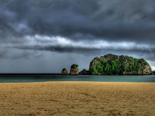 обои Скоро будет дождь на острове фото