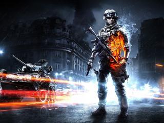 обои Игра Battlefield 3,   солдат,   оружие,   техника фото