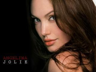 обои Лицо Анджелины Джоли крупным планом фото