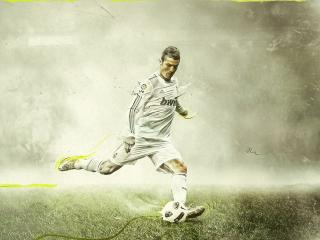 обои Cristiano Ronaldo удар по мячу фото