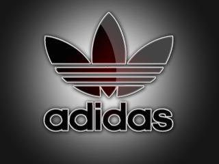 обои Adidas фирма,   серый фон фото