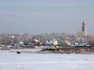 обои Зимний день в провинции фото