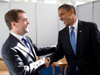 обои Президенты,   медведев и barack obama фото