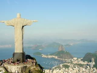 обои Статуя Христа Спасителя в Рио-де-Жанейро,  Бразилия фото