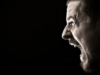 обои Профиль кричащего мужчины фото