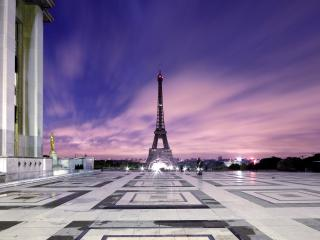 обои Шикарный вид на Эйфелеву башню фото