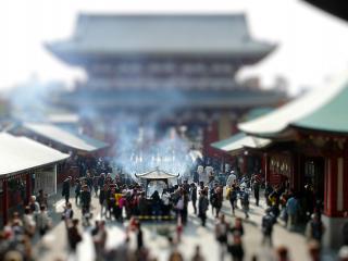 обои Китайский шумный город фото