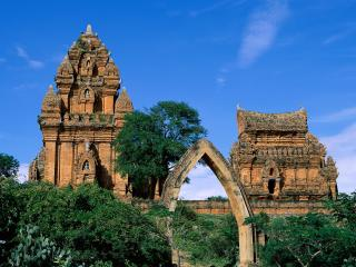 обои Вьетнам,   две башни ПоКлонг Гарай фото
