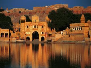 обои Индия,   Раджастан,   замок Гаджи Сагар фото