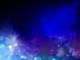 обои Сияющие голубые и синие цветы фото