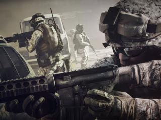 обои Игра  battlefield 3 солдаты с автоматами фото