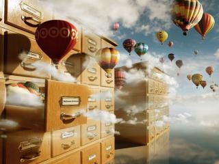 обои Картотека воздушных шаров фото